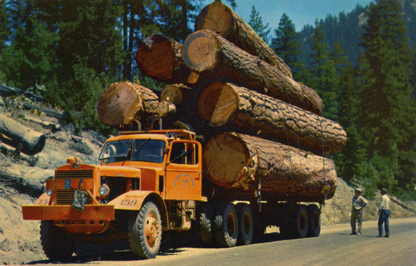 big logging truck